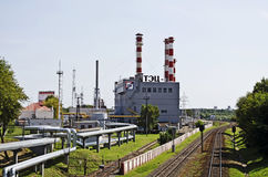 Industrial cityscape - building CHP in Gomel Stock Photography