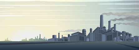 Industrial Cityscape Vector Stock Photo