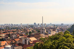 Industrial cityscape of western Zagreb Royalty Free Stock Image