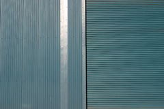 Industrial Cladding. Blue steel cladding, suitable as background or texture Stock Photo