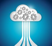 Industrial cloud computing connections Stock Images