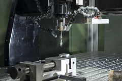 Industrial cnc mill automated metal processing machine Stock Photo