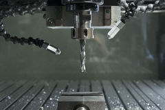 Industrial cnc mill automated metal processing machine Royalty Free Stock Image