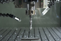 Industrial cnc mill automated metal processing machine Royalty Free Stock Photo