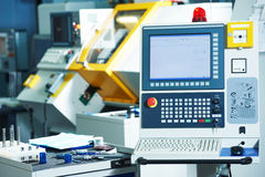 Industrial cnc milling machine center stock images