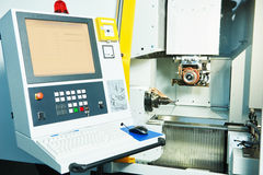 Industrial cnc milling machine center Royalty Free Stock Image