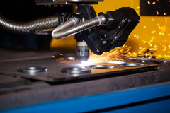 Industrial cnc plasma cutting machine Stock Photography