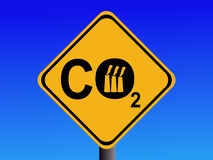Industrial CO2 sign Royalty Free Stock Image