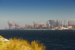 Industrial coast Royalty Free Stock Photo