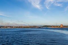 Industrial Coatline of Curacao Stock Photo