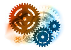 Industrial cogwheel. Cogwheel on the color background Stock Images