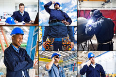 Industrial collage Stock Images