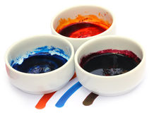 Industrial color on white bowl Stock Images