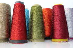 Industrial color yarn Royalty Free Stock Image