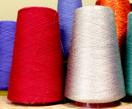 Industrial color yarn Stock Photography