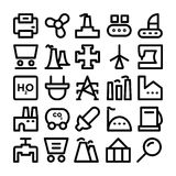 Industrial Colored Vector Icons 9 Royalty Free Stock Photo