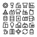 Industrial Colored Vector Icons 1 Royalty Free Stock Images