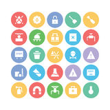 Industrial Colored Vector Icons 6 Royalty Free Stock Photo
