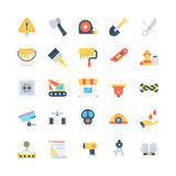 Industrial Colored Vector Icons 3 Royalty Free Stock Image