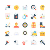 Industrial Colored Vector Icons 2 Stock Photos