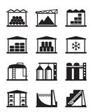 Industrial and commercial warehouses Stock Image