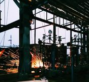 Welding work royalty free stock photos