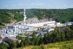 Industrial complex, Fredriksten, Norway Stock Photography