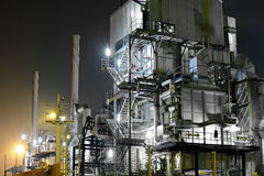 Industrial complex at night Stock Photography