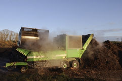 Industrial compost handling. Stock Images