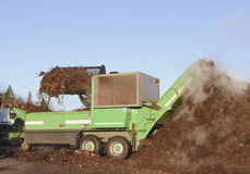 Industrial compost handling. royalty free stock photography