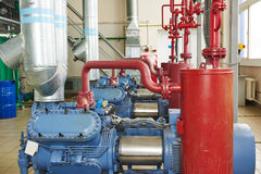 Industrial compressor station Royalty Free Stock Image