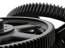Industrial Concept. Symbolized by large gears Royalty Free Stock Photos