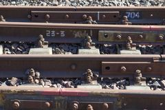 Industrial concept background. Railroad travel, railway tourism. Transportation Royalty Free Stock Photography