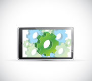 Industrial concept computer tablet illustration Royalty Free Stock Image
