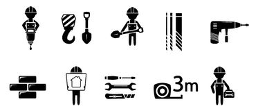 Industrial concept icon set Royalty Free Stock Images