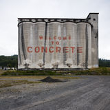 Industrial Concrete Building Sign Stock Image