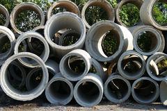 Industrial concrete pipe Stock Photos