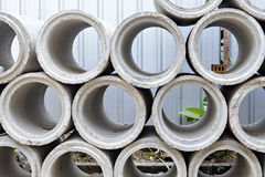 Industrial concrete pipe Royalty Free Stock Photo