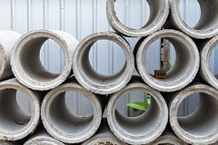 Industrial concrete pipe Royalty Free Stock Photos