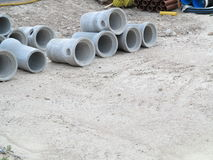 Industrial concrete pipe for building construction Royalty Free Stock Images
