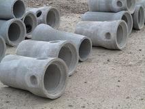 Industrial concrete pipe for building construction Stock Photography