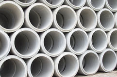 Industrial concrete pipe for building construction Royalty Free Stock Photography