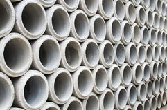 Industrial concrete pipe for building construction Stock Images