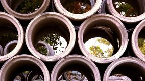 Industrial concrete pipe for building Stock Images