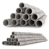 Industrial concrete pipes. Tubes Stock Photo