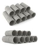 Industrial concrete pipes. Tubes Stock Images