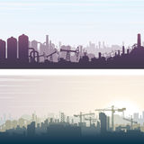 Industrial and Construction Banner Background Stock Image