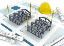 Industrial Construction Concept Stock Images