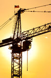 Industrial construction crane Stock Image