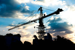 Industrial construction crane Stock Photography